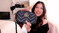 GG MARMONT MATELASSÉ BLACK SHOULDER BAG | Naomi Peris