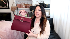 HERMÈS KELLY 32cm BAG BURGUNDY WITH RGH | Naomi Peris