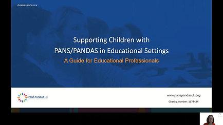 Introduction to PANS PANDAS for Educators