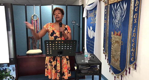 Sister Schanna Preaching to the Exiles