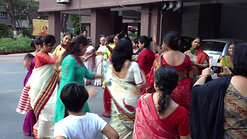 Bengali ladies dancing before Durga immersion