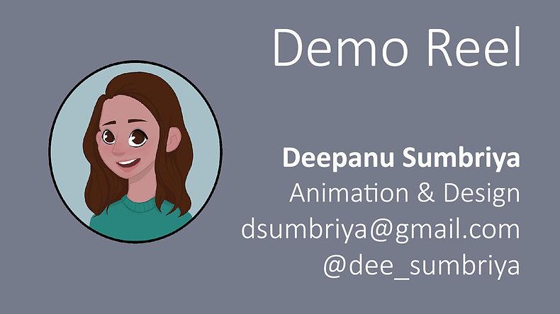 DeepanuSumbriya_DemoReel