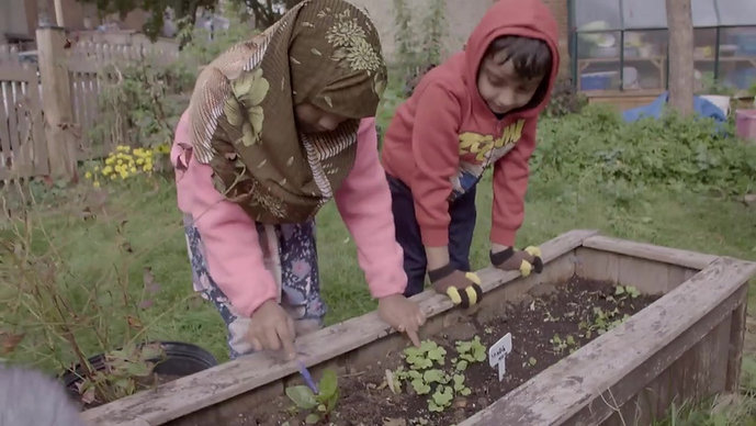 kids having fun with green thumbs - part 3