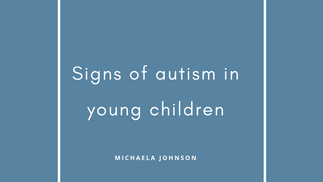 signs of autism in young children