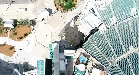 Jaguars Stadium and Pool - Drone Video