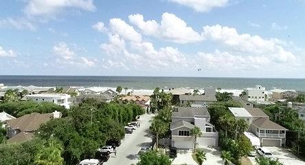Atlantic Beach Residential - Drone 4K Stock Video