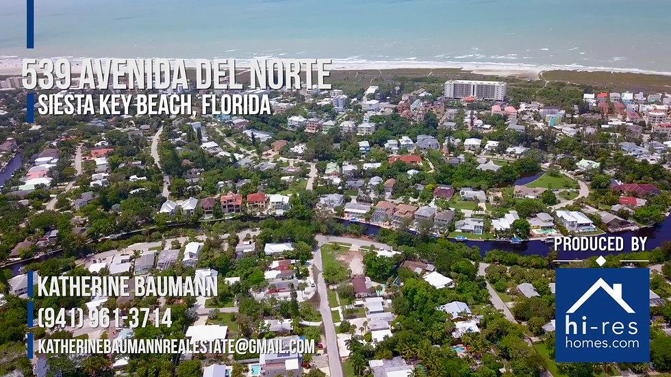 539 Avenida del Norte, Siesta Key Beach, Florida.
