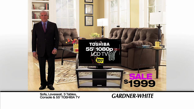 Gardner-White 30 sec commercials