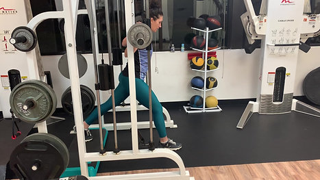 Elevated Smith Machine Split Squats