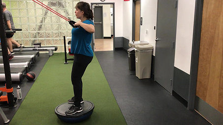 Bosu Banded High Row