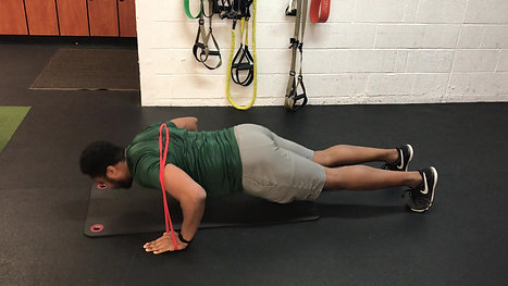 Banded Pushup