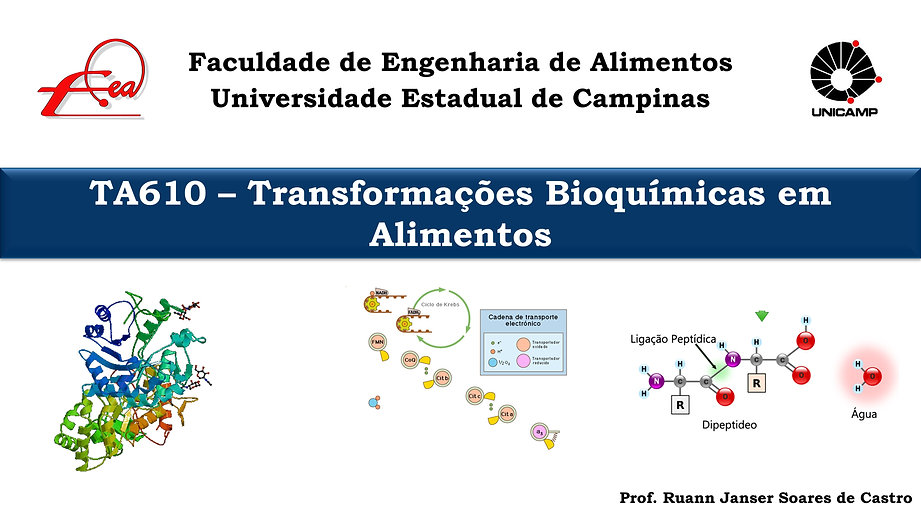 Aulas TA610 - Transformações Bioquímicas em Alimentos - FEA - Unicamp