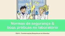 1ª Aula Prática - Regras de segurança em laboratório - Letícia Nunes