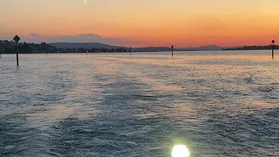 Abendfahrt vom Untersee Insel Reichenau