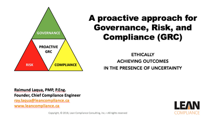 A Proactive Approach for Governance Risk and Compliance