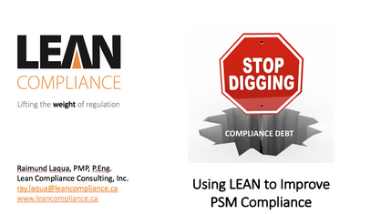 Using LEAN to Improve PSM Compliance
