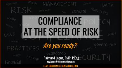 Compliance at the Speed of Risk