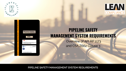 Pipeline Safety Management System Requirements