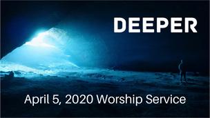 April 6, 2020 Palm Sunday worship service