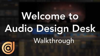 Welcome To Audio Design Desk