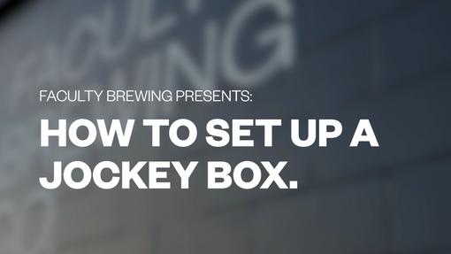 How to set up a jockey box