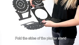 Flat-packed Tractor Planter