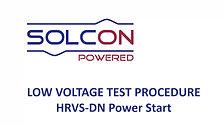 Solcon Low-Voltage Test Procedure