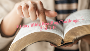 61 Day Bible Reading Challenge 2019