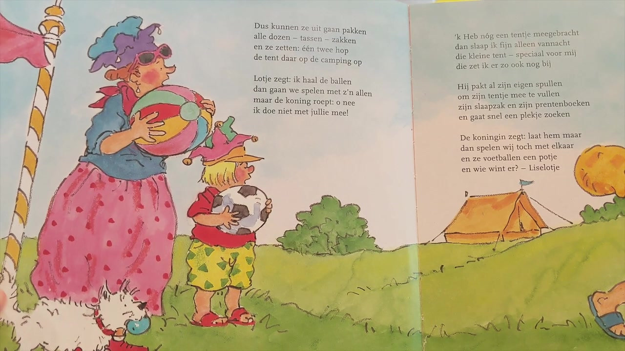 """Elizabeth leest voor  """"Liselotje gaat kamperen""""  geschreven door Marianne Busser"""