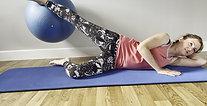 Side Lying Leg Lift with Ball