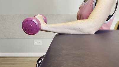 Eccentric Wrist Extension with Weight