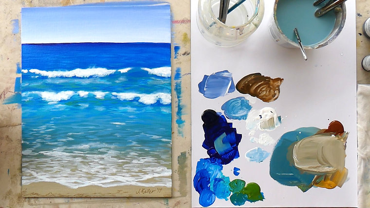 Beach Day: How to Paint the Beach in Acrylics