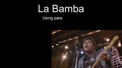 29/09/2021- La bamba with para