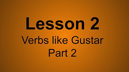 Verbs like gustar Pt.2