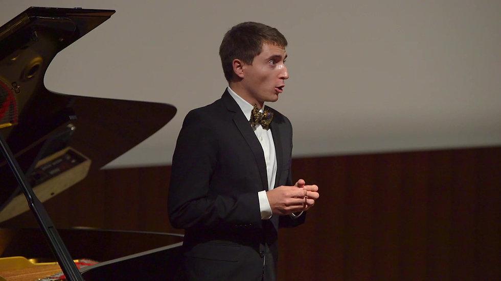 Extrait du cycle Harfenspieler de Hugo Wolf avec Eric Cerantola au piano