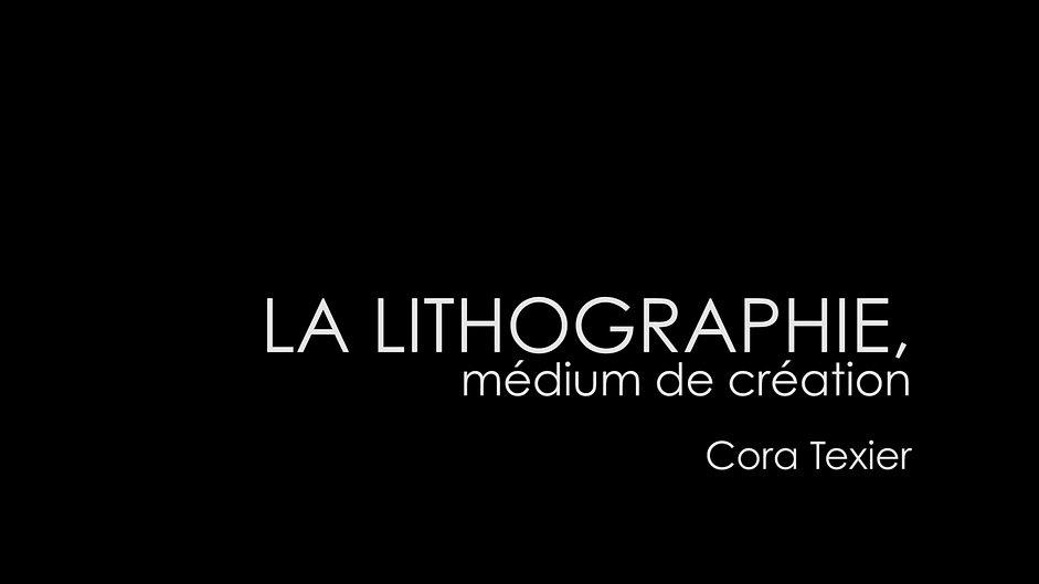La lithographie médium de création