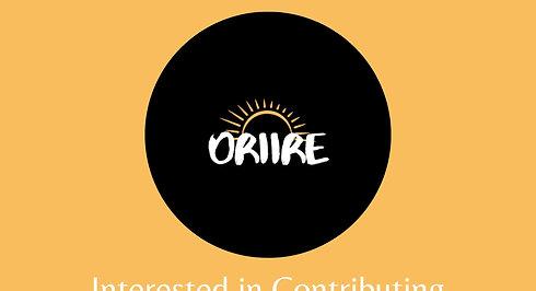 Oriire - Contribute