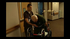 Patient uses Secure Tracks following total knee replacement