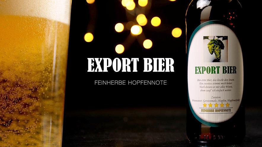 WERBESPOT Export Bier