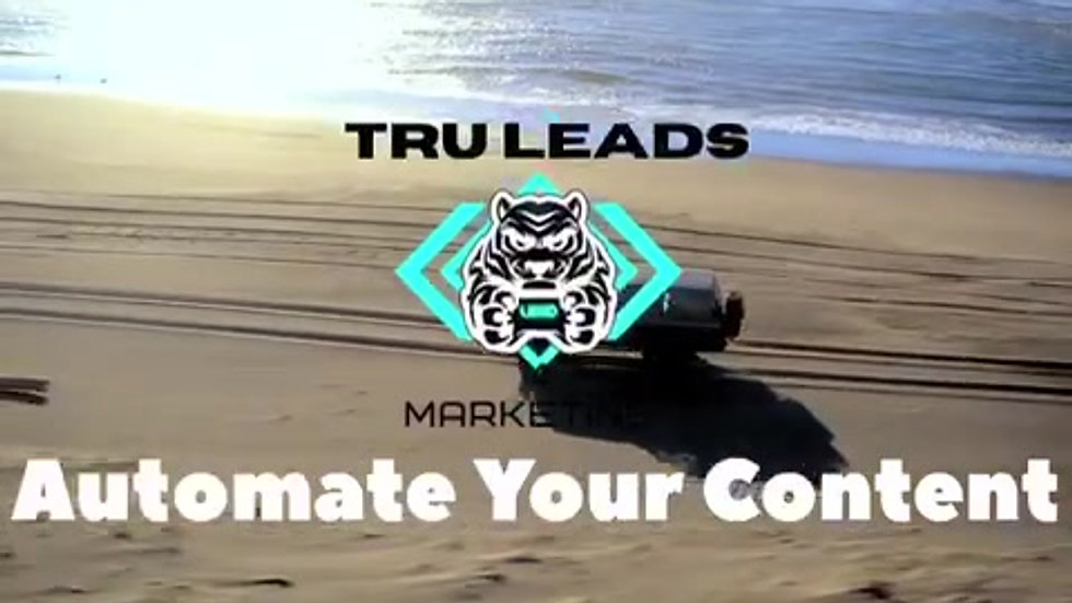 Tru Leads Content Automation Software