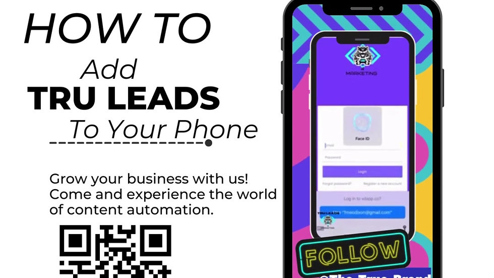 How To Add Tru Leads To Your Phone