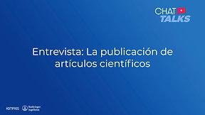 La publicación de artículos científicos con el Dr. Baloira