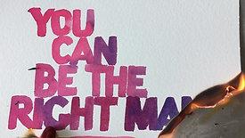 WISH NEW SKY - The Right Man Illustration - burning