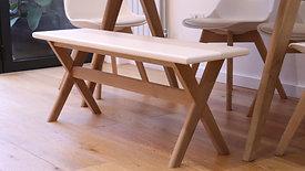 DIY Modern Oak Bench