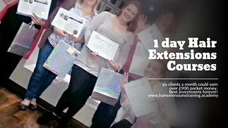 1 day hair extensions courses fully accredited