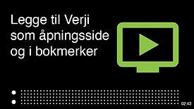 Hvordan legge til Verji som åpningsside i nettleser, og bokmerke siden