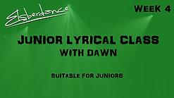 Junior Lyrical Class