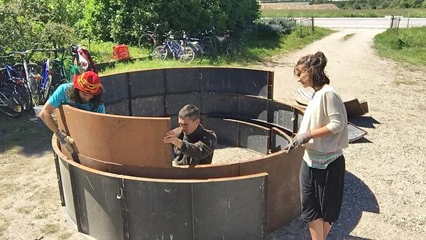 EVS Team Building BIOGAS DIGESTER