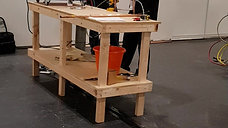 SkillFridge Manager Mark Forsyth monitoring apprentice brazing work at HVAC show