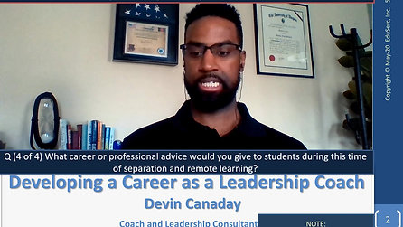 Devin Canaday - Career and Professional Advice (Engineering)